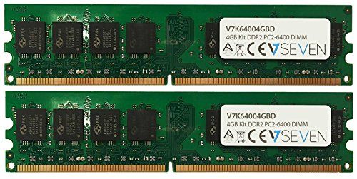800 Mhz Ddr2 Desktop (V7 V7K64004GBD Desktop DDR2 DIMM Arbeitsspeicher 4GB (2X2GB KIT, 800MHZ, CL6, PC2-6400, 240pin, 1.8V))