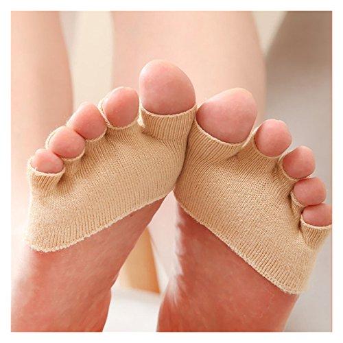 ECYC® Anti Slip Tacchi Alti Sandalo Invisibile Calze Mezza Footie, Beige