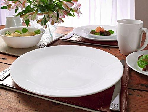 Corelle Vitrelle Glass Winter Frost Chip and Break Resistant Dinner Set, Set of 30, White