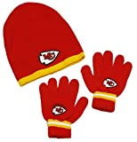 NFL Kansas City Chiefs Little Boys Knit Hat and Gloves Set