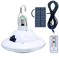 Portable Outdoor LED Solar Hook Lamp Remote Control Camping Hiking Home Emergency Light