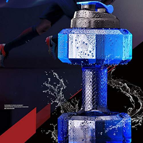 Youzhishui 2,2 l große Wasserflasche Sport Laufen Fitness Wasserkocher Gym Kunststoff Camping Drinkware,2200 ml blau Kunststoff Drinkware