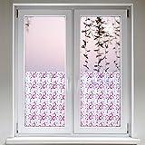 Artefact® Dekofolie / Fensterfolie Loops Rosa | Selbstklebend | verschiedene Größen