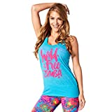 Zumba Fitness Damen Wild About Burnout Bubble Tank Frauentops, Seaside Surf, XL/XXL