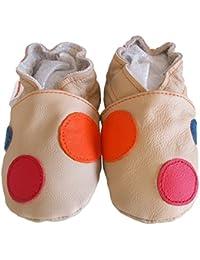 """""""Confettis"""" de BBKDOM- Chaussons bébé et enfant en cuir souple de qualité supérieure Fabrication Européenne de 0-5 ans"""