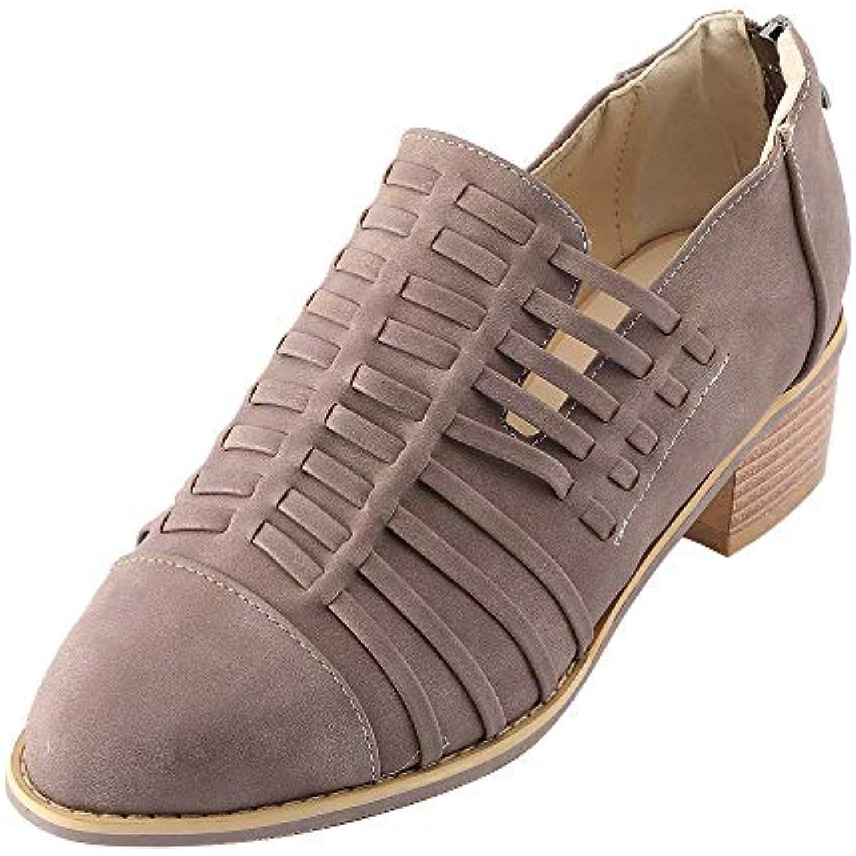 Fantaisiez Bottes Style Britannique Femme agrave  Talon eacute pais No  euml l Bottines Bottines euml l Pointues Fermeture eacute clair Chaussures  ... 11a33163fa83