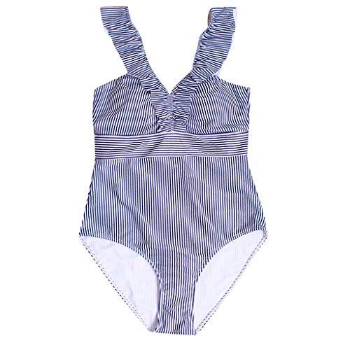 Asalinao Badebekleidung Damen, Frauen One Piece Push Up gedruckt Bikini Beach Monokini Badeanzug Bademode Baden