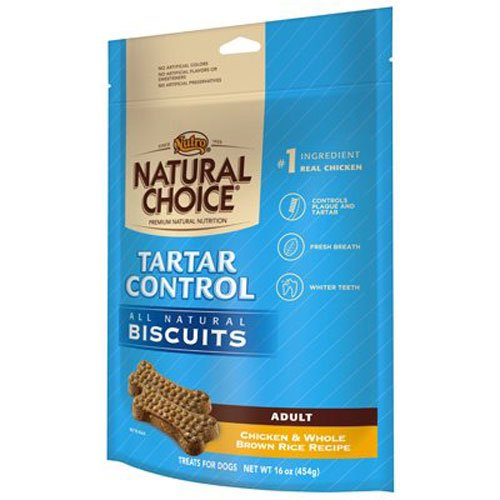 NUTRO PRODUCTS NATURAL CHOICE Tartar Control Adult Biscuits Chicken and Whole Brown...