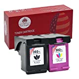 Toner Kingdom 2 Pack Compatible HP 302 XL Cartouche d'encre Pour HP Deskjet 3630 3632 2130 2132 2134 3633 3634 1110 Envy 4520 4522 4523 4524 4527 Officejet 4654 3830 3834 4652 4650 Imprimante (1 Noir + 1 Tri-Color)