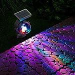 GloBrite Solar Powered Colour Changing Revolving LED Spotlight Carnival Garden Party Stake Light 7