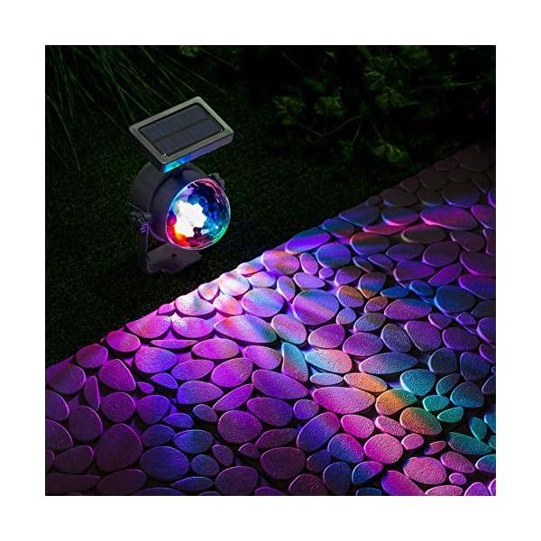 GloBrite Solar Powered Colour Changing Revolving LED Spotlight Carnival Garden Party Stake Light 2