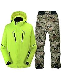 25cfe99a1821b Zjsjacket Chaqueta de esqui pantalón de camuflaje Hombres