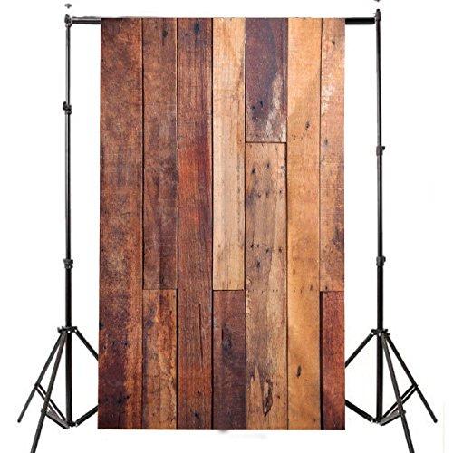 Fotohintergrund Fotografie Stoffhintergrund Stoff Hintergrund - Holzoptik Bretter Bild Bildhintergrund Backdrops Foto Props für Fotostudio - 0.9×1.5M
