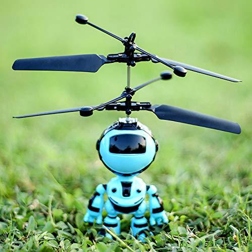 Kisshes Giocattoli - Bambini all'aperto RC Flying Toys Sensore a infrarossi, RC Drone Elicottero Robot unicorno, ricarica USB con luci a LED Shinning (type 1)