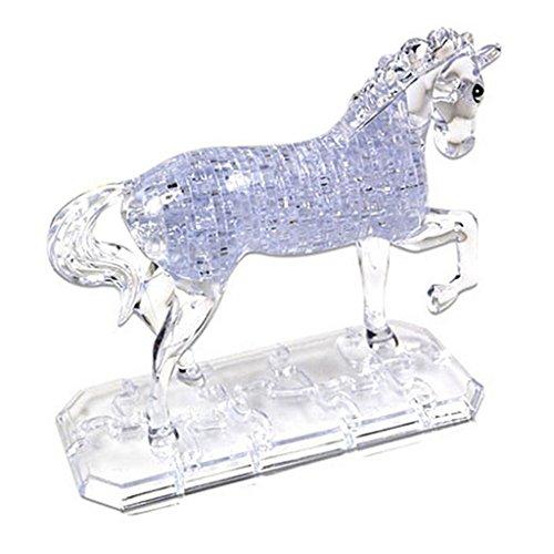 Sharplace 100-teilig 3D Crystal Puzzle DIY Kristallpuzzle - Pferd - Spielzeug Geschenk für Freunde und Familie - Weiß