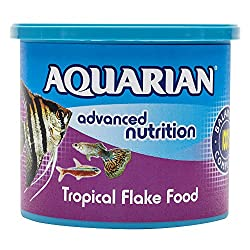 AQUARIAN Complete Nutrition, Aquarium Tropical Fish Food, Flakes, 200 g Container