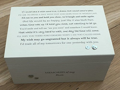 Personalisierbare Erinnerungsbox für Mütter/Mama, Shabby Chic, Aufschrift MAM/MAM / MAM/MAM / MAM / MAM, Mutter/Mutter.