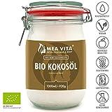 MeaVIta Bio Kokosöl, nativ, 1er Pack (1 x 1000 ml) im Bügelglas