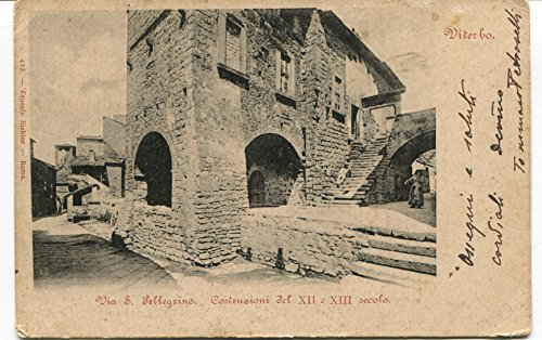 1835-viterbo-via-s-pellegrino-43-reggimento-zona-di-guerra-fp-b-n-vg-anim-cartolina-postale