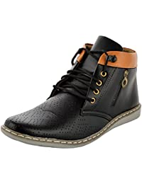 Shoe Matic Ankle Length Black LaceUp Sneaker Shoes For Men And Boys