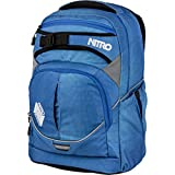 Nitro Superhero Schulrucksack, 44 cm, 30 L, Blur Brilliant Blue