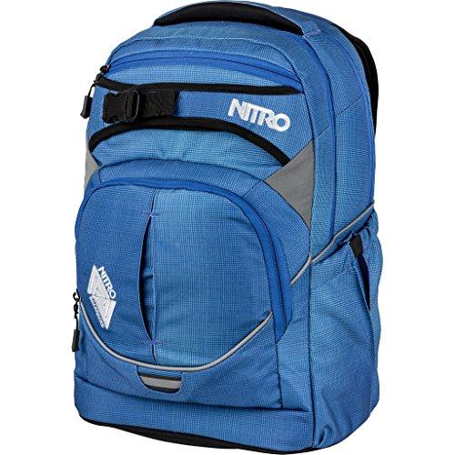 Nitro Superhero Schulrucksack, Rucksack, abnehmbarer Hüftgurt, robuste Bodenplatte, Thermotasche, 30 L