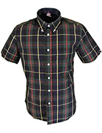 Warrior Caine Checked Retro Button Down Short Sleeve Shirt