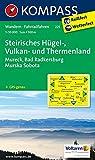 Steirisches Hügel-, Vulkan- u. Thermenland: Wanderkarte mit Radrouten. GPS-genau. 1:50000 (KOMPASS-Wanderkarten, Band 225)