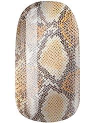 Nagelfolien/Python Sahara Beige-selbstklebend mit individuellen Designs by Glamstripes- made in Germany. 12 Nail Wraps äußerst strapazierfähig mit langer Haltedauer