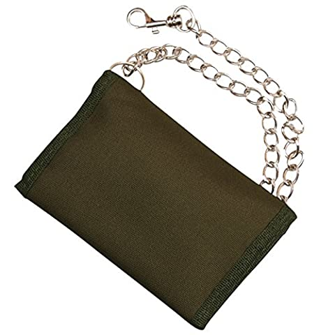 Kombat UK Unisex Military Wallet on Chain, Olive Green, One