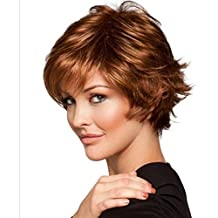 Meylee Pelucas Europea caliente venta de pelucas de pelo corto rizado a prueba de calor