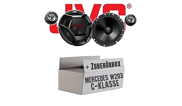 Mercedes C Klasse W203 Front Jvc Cs Dr1700c 16cm 2 Wege Lautsprecher System Einbauset Navigation