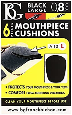BG Mouthpiece Black Cushions for Clarinet & Saxophone - Large (A10L) - cheap UK light shop.