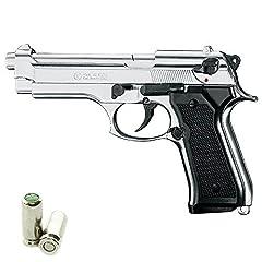 Idea Regalo - Pistola a Salve KIMAR Beretta 92 Cal.9 PAK | Top Firing | Acciaio