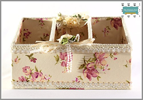 The Vintage Feel - Victorian Imported Comb Stand Cloth and Lace