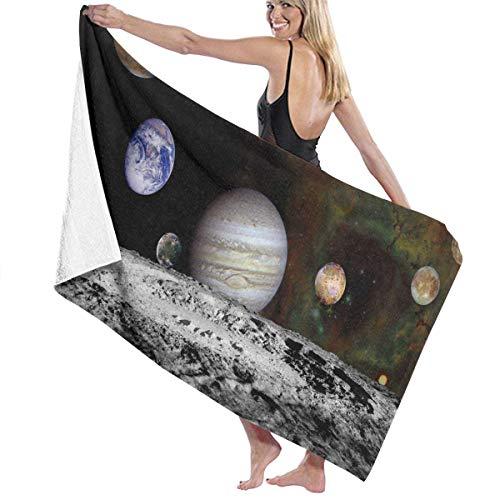 xcvgcxcvasda Serviette de bain, The New Solar System Personalized Custom Women Men Quick Dry Lightweight Beach & Bath Blanket Great for Beach Trips, Pool, Swimming and Camping 31