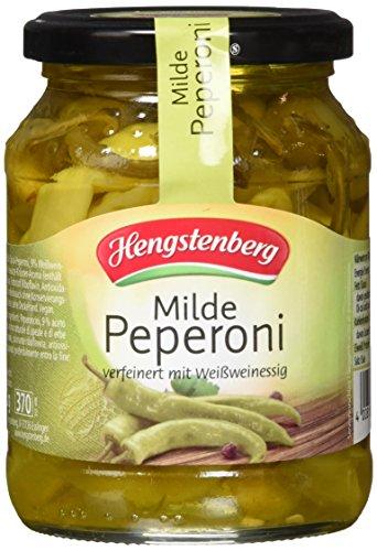 Hengstenberg Milde Peperoni mit Weißweinessig, 6er Pack (6 x 330 g)