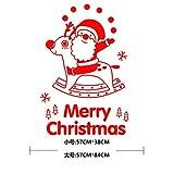 HAPPYLR 2019 Jahr Weihnachten Wandaufkleber Schaufenster Aufkleber Glastür Aufkleber Santa Dekoration Artikel, Rot, groß