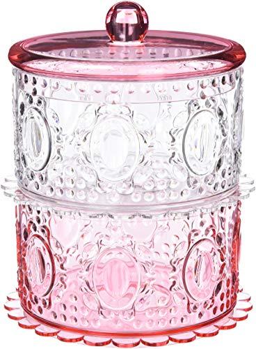 Baci Süßigkeiten Acryl Cookie Jar, Rose, 1.12 x 1.12 x 1.12 cm -