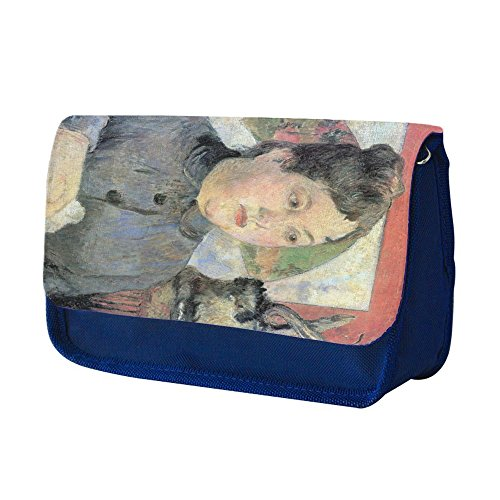 gauguin-madame-kohler-azul-escuela-nios-sublimacin-alta-calidad-polister-estuche-de-lpices-con-diseo