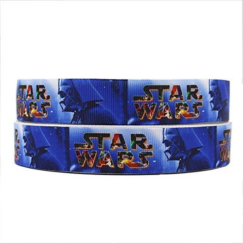 2m x 22mm NEU Star Wars blau Darth Vader Ripsband für Geburtstag Kuchen Geschenkpapier Karten