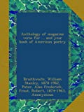 Anthology of magazine verse for ... and year book of American poetry: 1917