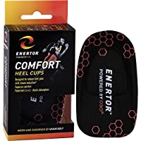 Enertor Heel Cups Comfort Comfort Insole,Orange ,Medium