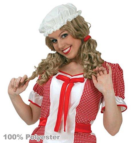 Nachthemdenball Kostüm - Schlafhaube Nachtkappe Schlafmütze Mittelalter Magd Haube