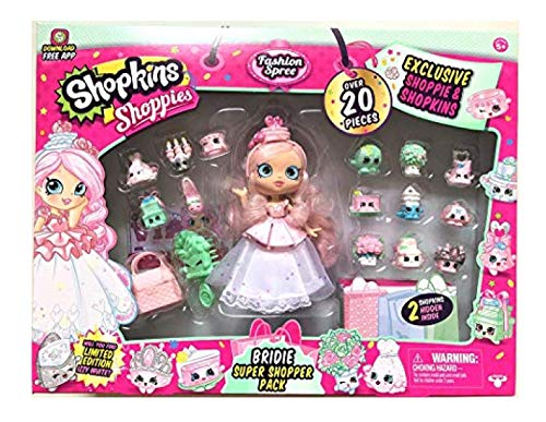 Shopkins Shoppies BRIDIE Exclusive Super Shopper Pack - Bride Doll Wedding Fashion Shopping Spree (20+ Pieces) (Shopping Für Shopkins)