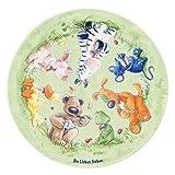 Die Lieben Sieben Kinderteppich Weich und Soft, Ø100 cm Rund Farbe Grün Gras, Teppich mit Bildmotiv für Jungen und Mädchen, Kinderzimmer-Teppich Öko-Tex zertifiziert