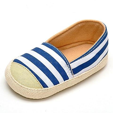 Lit bébé chaussures en coton à rayures Bleu marine -