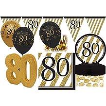 Geburtstag Party Swirl Girlanden schwarz gold Raum Deko Dekoration 80