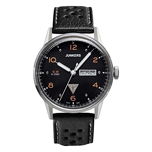 Junkers Herren-Armbanduhr Analog Quarz Leder 69445