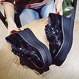 kphy-the Barock schwarz single Schuhe Buchse die geschnitzt Piste mit dicken Schwamm Kuchen mit einen kleinen Leder-Schuhe, Thirty-six